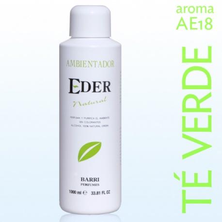 Désodorisant écologique d'air EDER 1 litre - Arôme: AE18-THÉ VERT