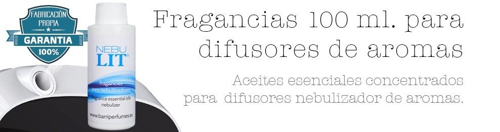 FRAGANCIA CONCENTRADA PARA NEBULIZADORES DIFUSORES DE AROMAS 100 ml.