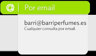Contacto Barri Perfumes