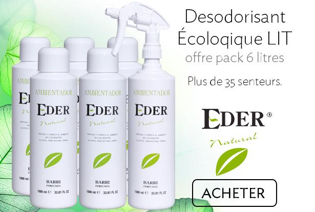 Desodorisant Écologique EDER Natural Offre Pack 6 litres