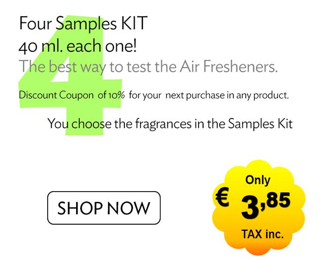 4 Air Freshener Samples
